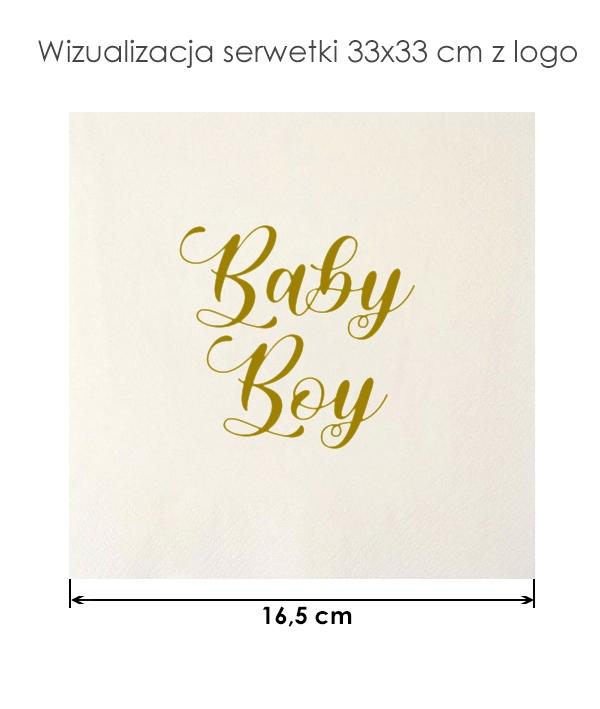 Serwetki baby boy na przyjęcie baby shower