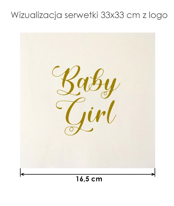 Serwetki baby girl na przyjęcie baby shower