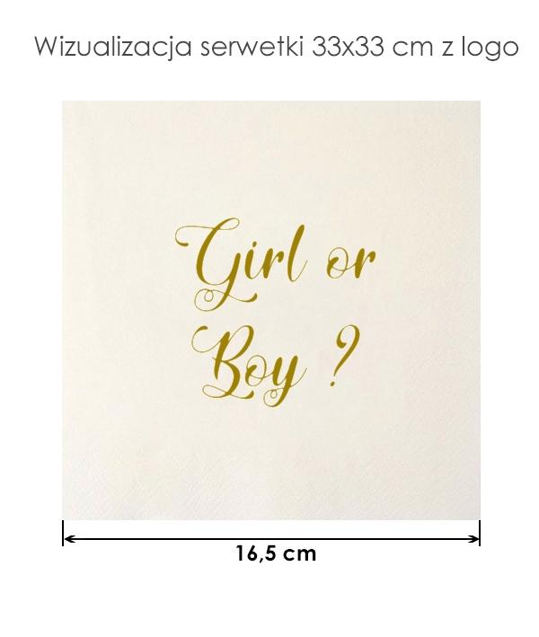 Serwetki girl or boy na przyjęcie baby shower